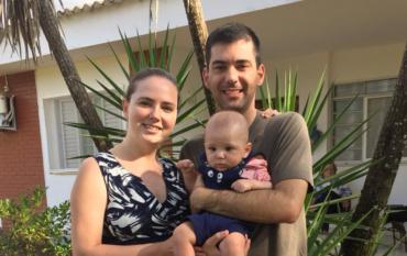 Александр и Любовь, сын Юрий 4,5 месяца